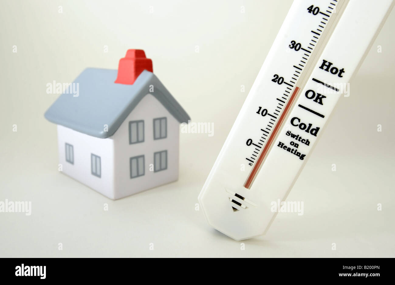 HOUSE WITH THERMOMETER SHOWING 20 DEGREES CELCIUSROOM