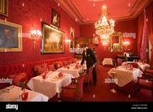 Waiter In Restaurant Rote Bar Of Hotel Sacher Vienna