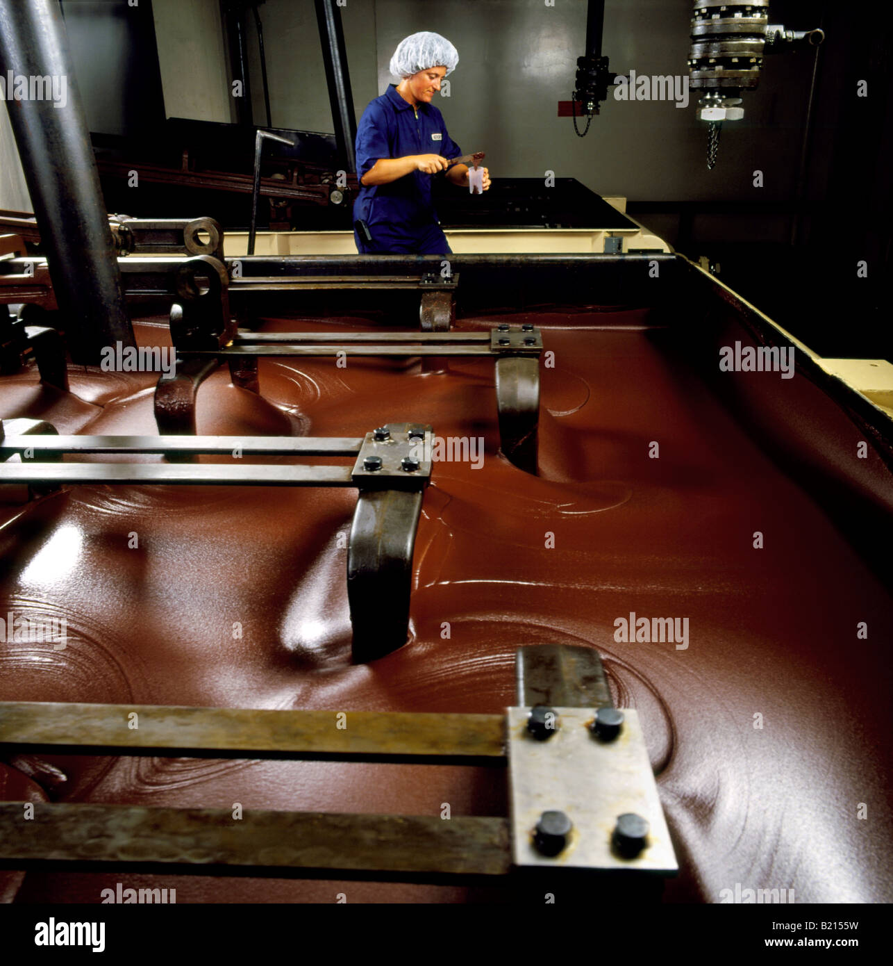 Quality Control Technician Checks The Production Of A