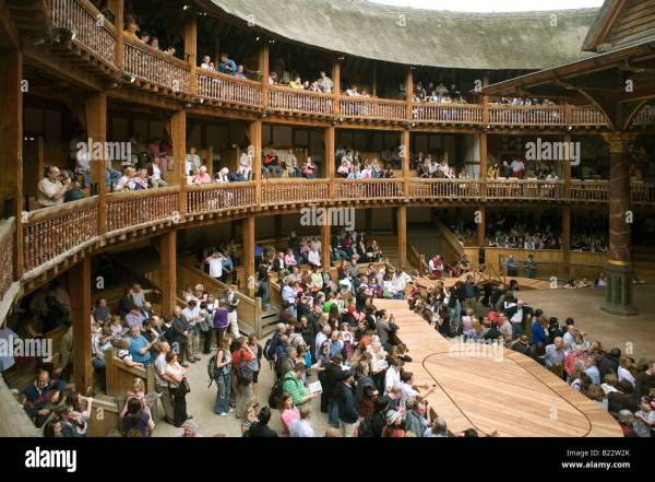 England London Globe Theatre Stock Royalty Free