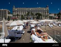 Beach Cannes Carlton Stock &