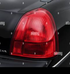 2008 lincoln town car signature limited in black tail light stock image [ 1300 x 956 Pixel ]