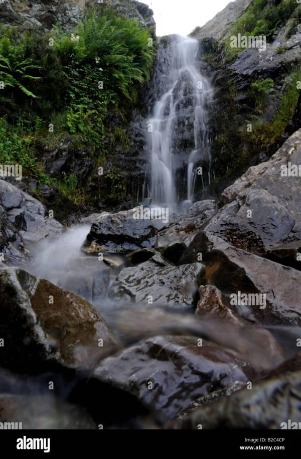 Light Spout Waterfall Stock &