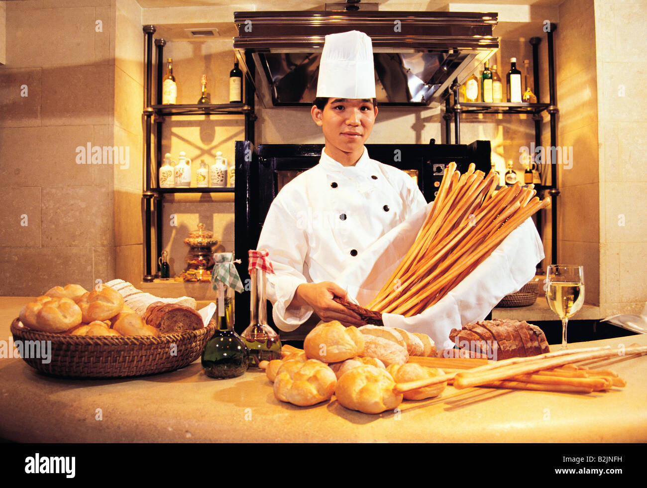 hotel with kitchen hong kong floors for kitchens chinese chef baking bread in grand hyatt