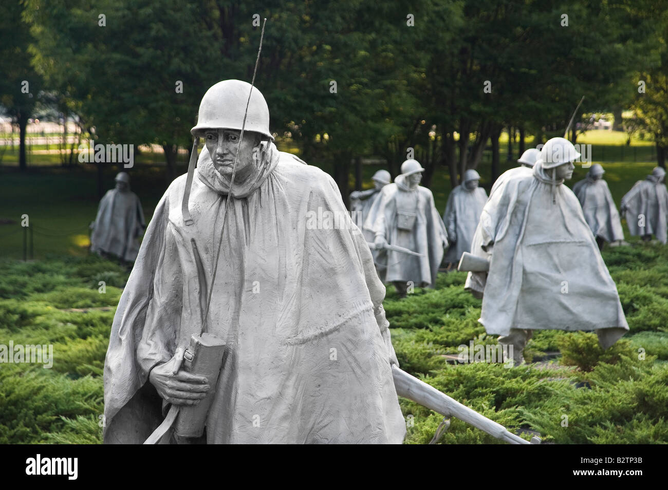 Korean War Memorial Sol R Statues Washington Dc Usa