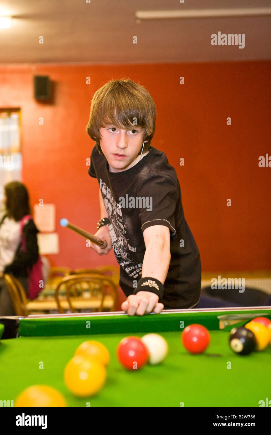 8 Ball Pool Picture : picture, Playing, Youth, Centre, Stock, Photo, Alamy