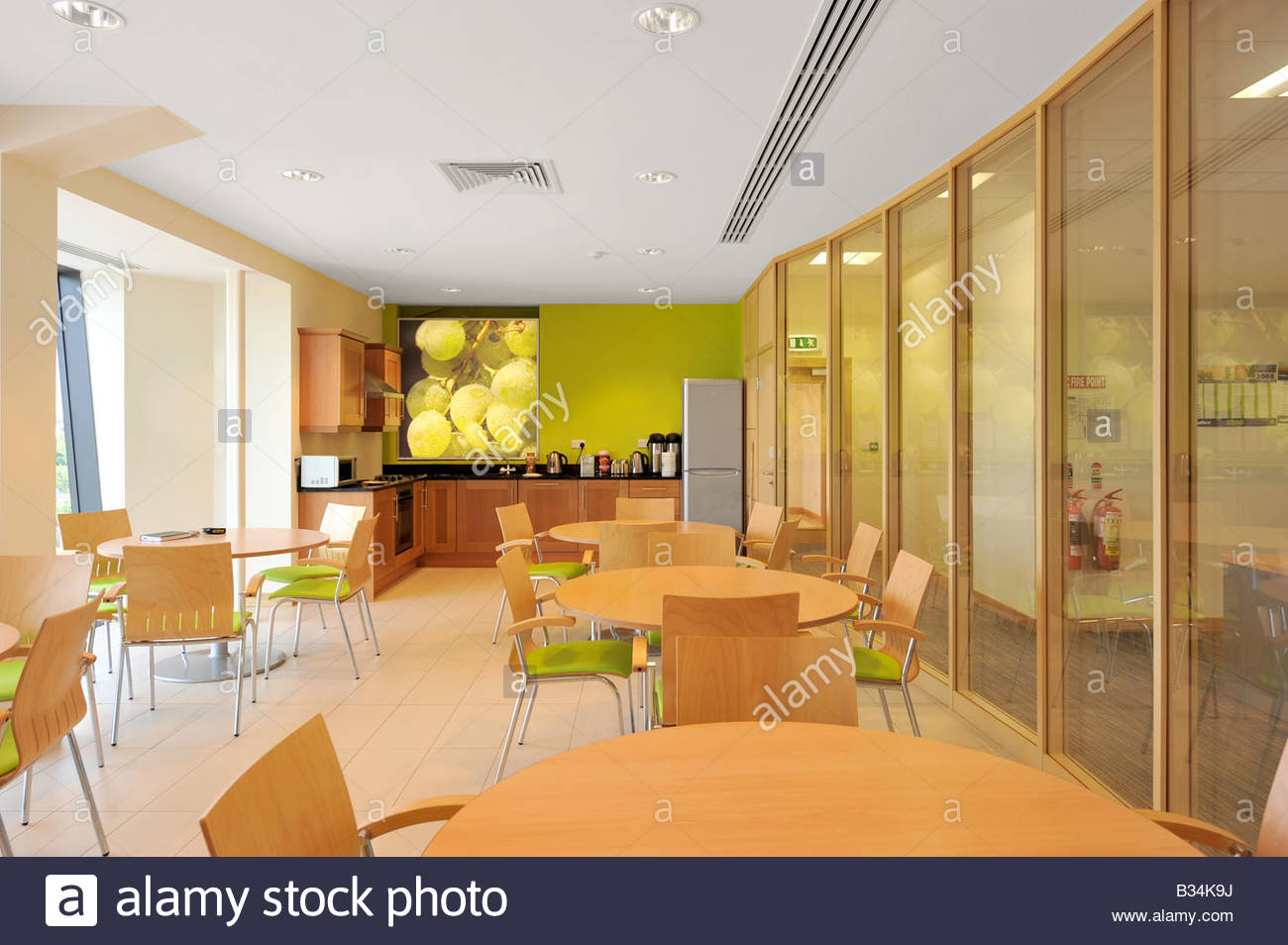 Modern Office Kitchen and Canteen Stock Photo Royalty
