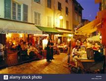 Cannes Le Suquet Restaurant Stock 19227742 - Alamy
