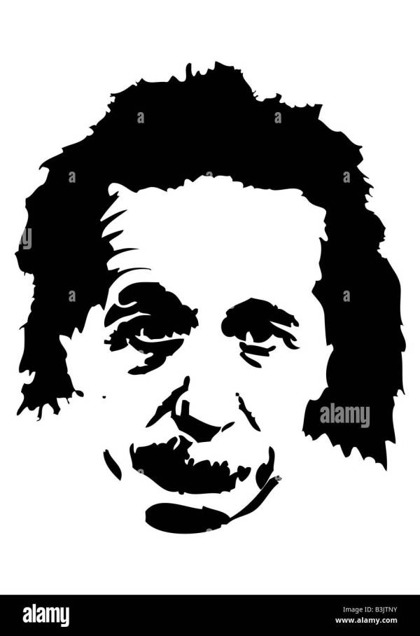 Illustration Of Albert Einstein Stock Royalty Free