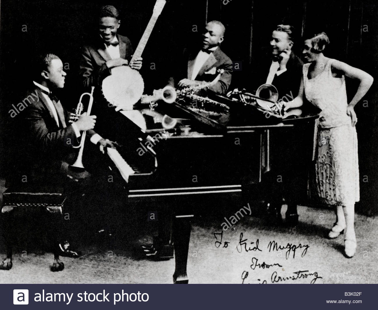 King Oliver S Creole Jazz Band With Louis Armstrong At