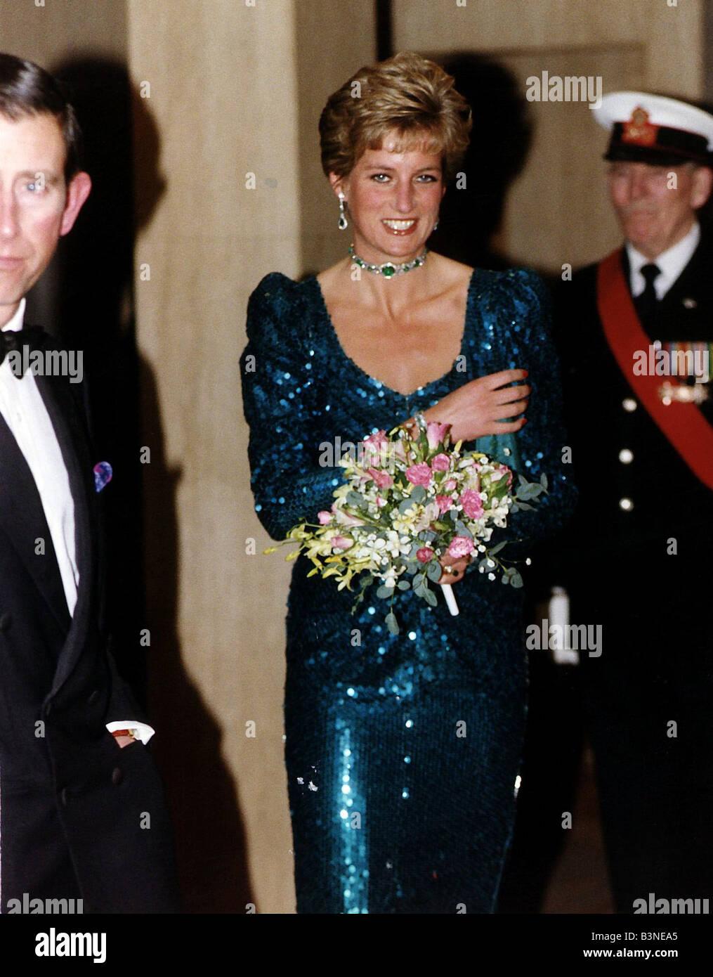Princess Diana with Prince Charles at the Diamond Ball at
