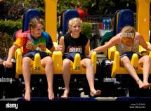 Girls Barefoot at Amusement Parks
