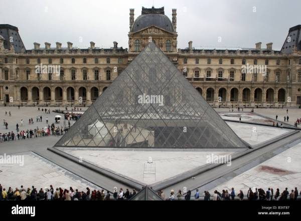 Outside Louvre Pyramid