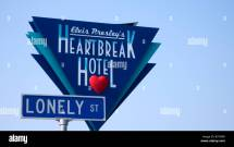 Heartbreak Hotel Sign Lonely Street Memphis Usa Stock