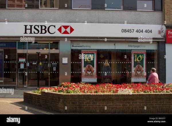 Uk England Surrey Woking Town Centre Hsbc Bank Facade Stock 19682319 - Alamy