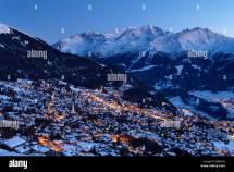 Verbier In Winter Dusk 4 Valleys Region