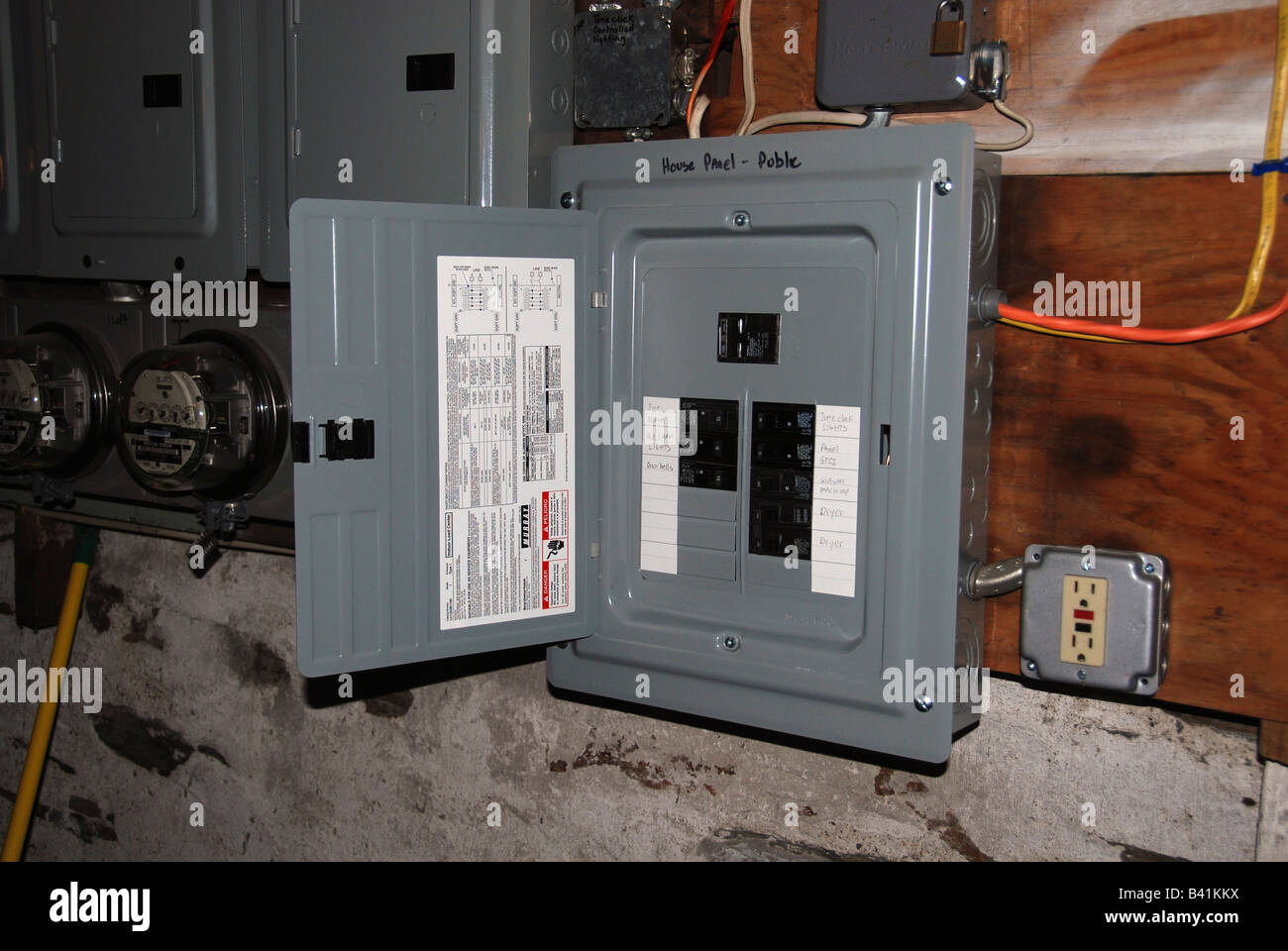 hight resolution of circuit breaker box stock image