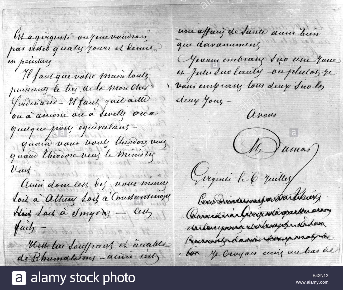 French Handwriting Stock Photos Amp French Handwriting Stock Images