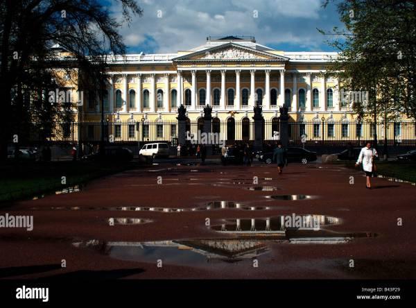 Russia Saint Petersburg Russian Museum Stock &