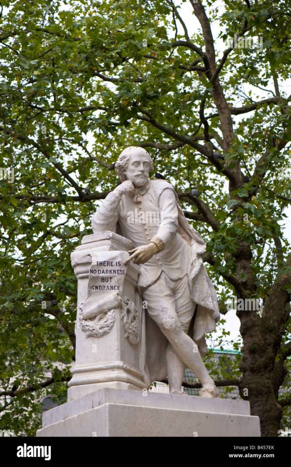 Shakespeare Statue Leicester Square Stock &