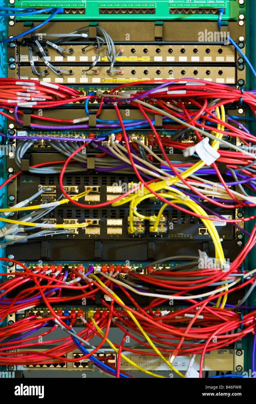 medium resolution of computer cables ethernet network rack server connection stock image