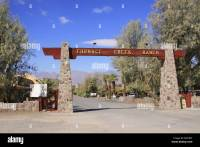 Entrance gate to the Furnace Creek Ranch, Death Valley ...