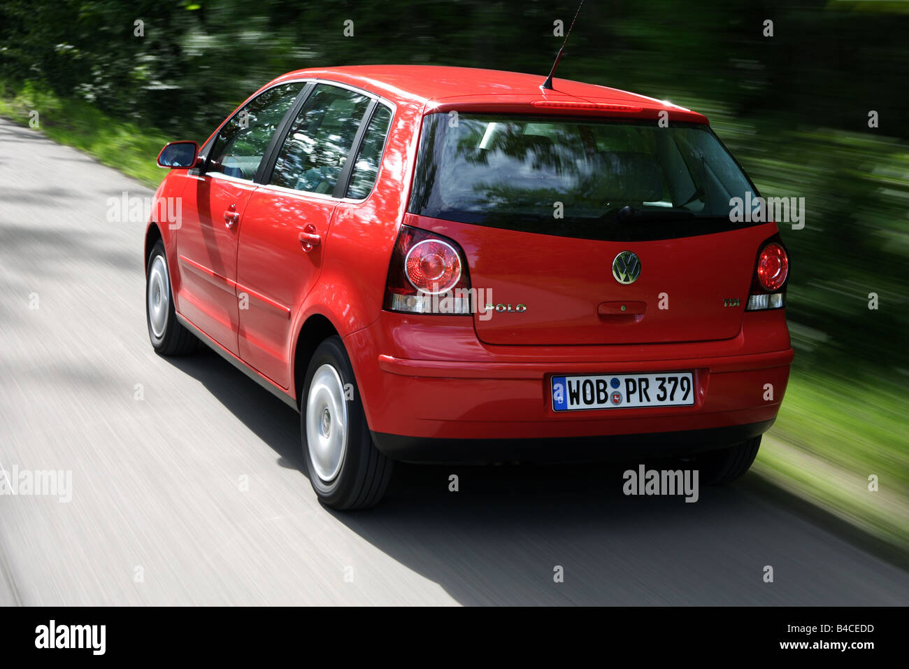Car Vw Volkswagen Polo 1 4 Tdi Model Year 2005 Red