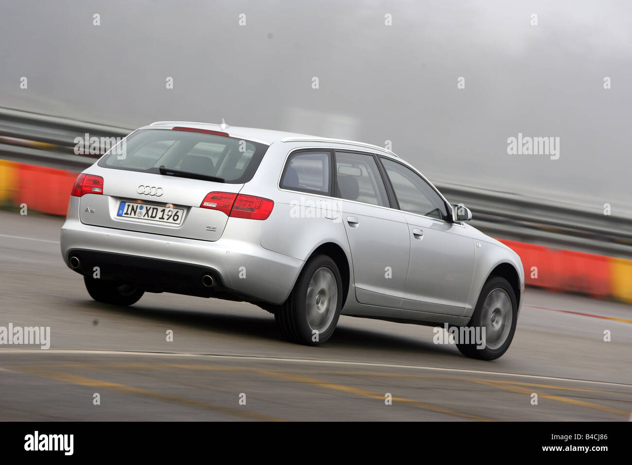 hight resolution of audi a6 avant 4 2 quattro model year 2005 silver driving diagonal from the back rear view test track