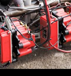 ignition spark system on a top fuel dragster transformer high powered magneto drag race racing dragster car performance 44 amp [ 1300 x 953 Pixel ]