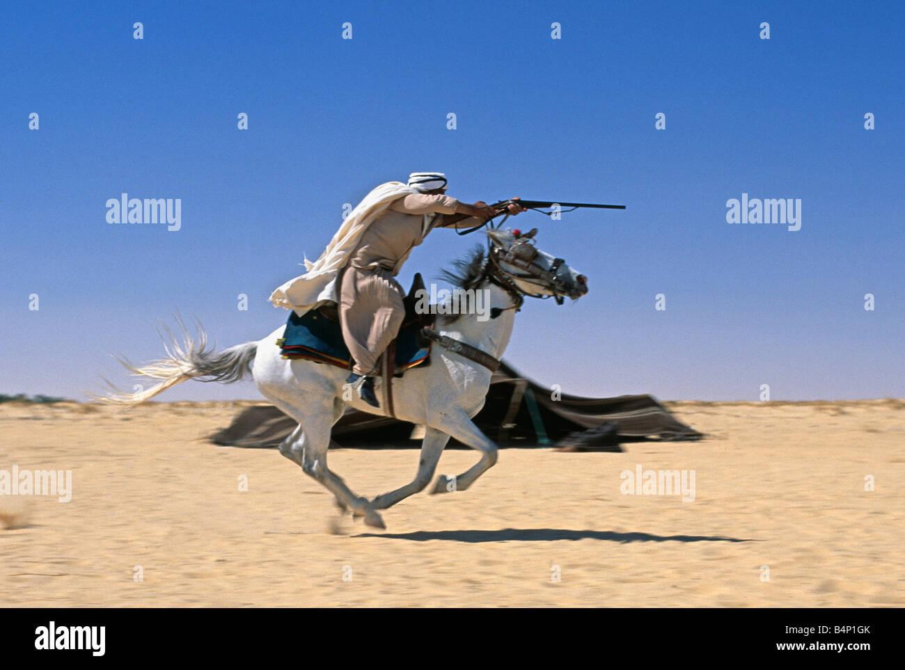 Fall Nature Wallpaper Free Algeria Touggourt Bedouin Man On Horse During Festival