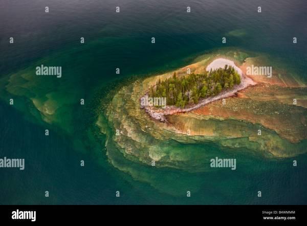 Lake Superior Island Canada Aerial