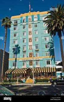 Historic Georgian Hotel Santa Monica Stock
