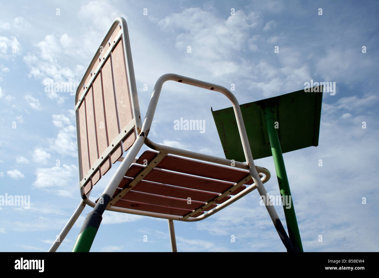folding umpire chair elegant design tennis s stock photos on a court image