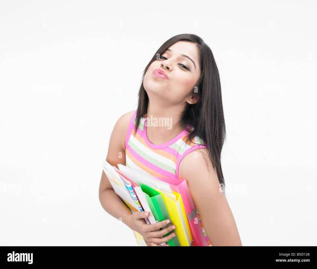 A Pretty Asian Teenager Of Indian Origin With Files Office Secretary Stock Image