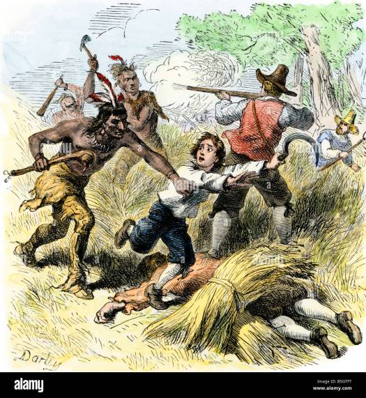 Native American raid on settlers in New England during ...