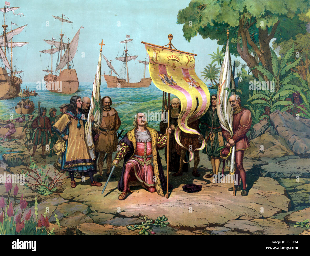 Spanish Colonization Of The Americas Stock Photo