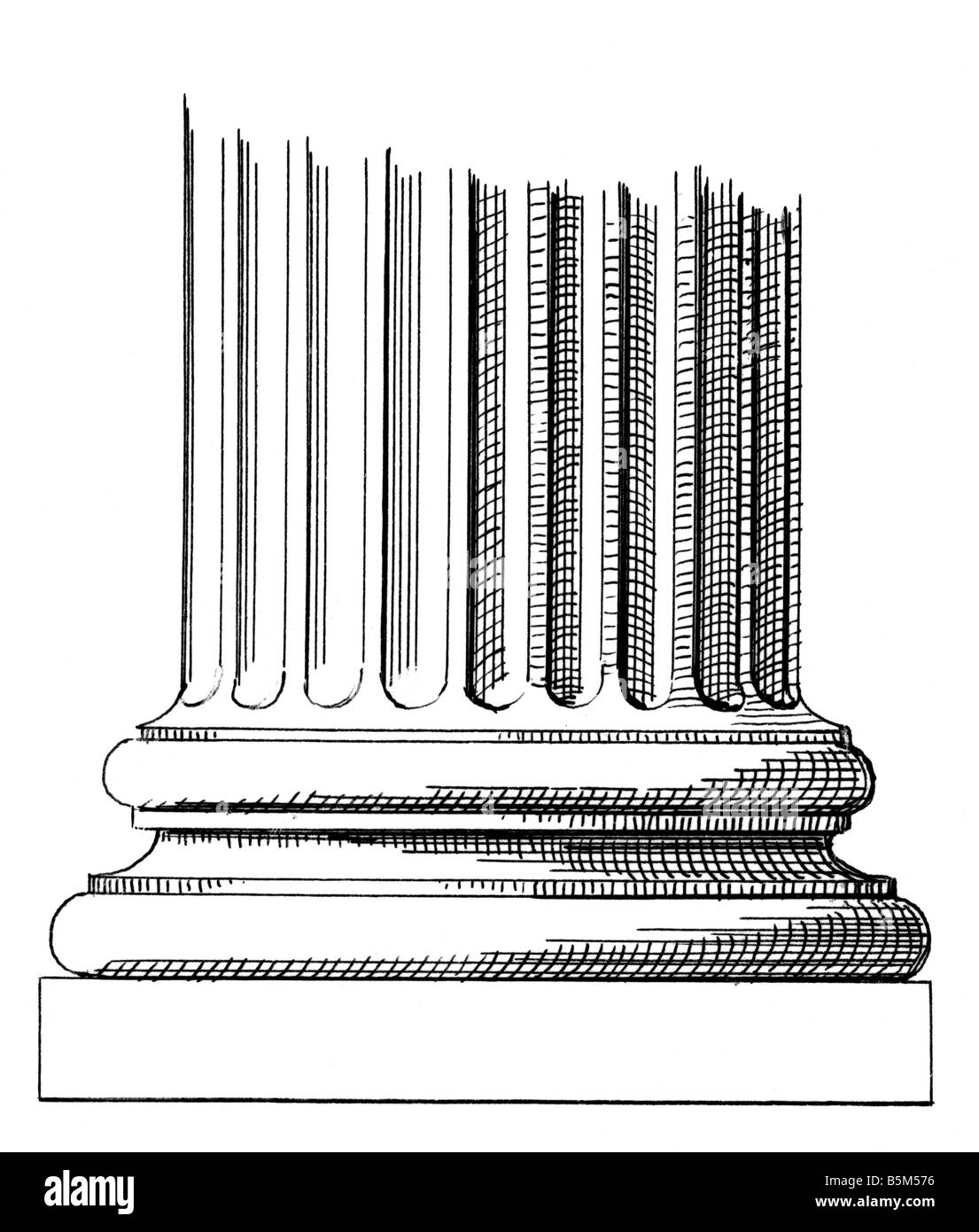 Ionic Column Cut Out Stock Images Amp Pictures