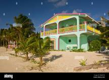 Caye Caulker Belize Barefoot Beach Hotel Stock
