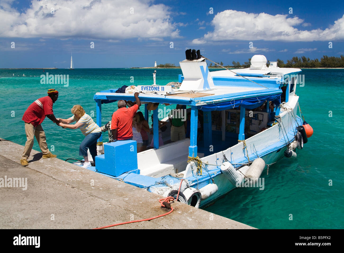 Ferry Boat In Nassau Harbour New Providence Island Bahamas