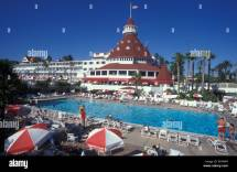 People Swimming Pool Of Hotel Del Coronado In San