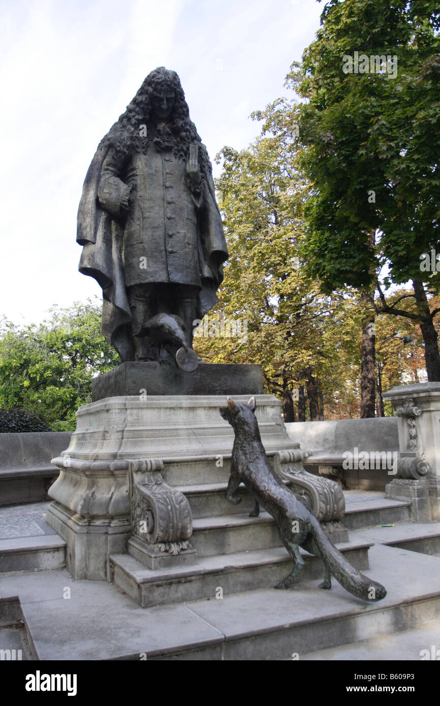 Jean De La Fontaine Charles De La Fontaine : fontaine, charles, Bronze, Statue, Fontaine, (1983), Charles, Correia, Stock, Photo, Alamy