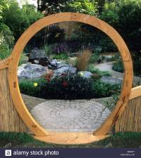 Feng Shui garden London Design Pamela Woods circular moon