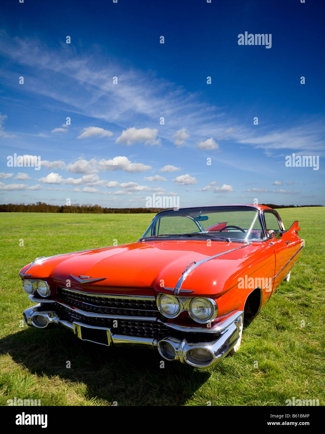 hight resolution of a classic red 1959 cadillac coupe de ville the epitome of american automotive style and elegance