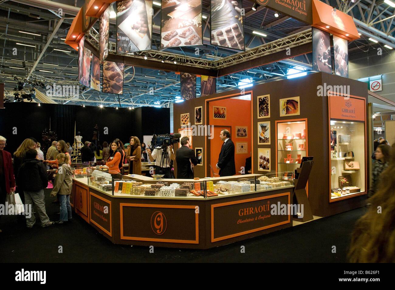 Ghraoui Chocolate stand at the Paris Salon du Chocolat 2008 Stock Photo 20947333  Alamy