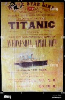 Titanic Poster Stock Royalty Free 21063593