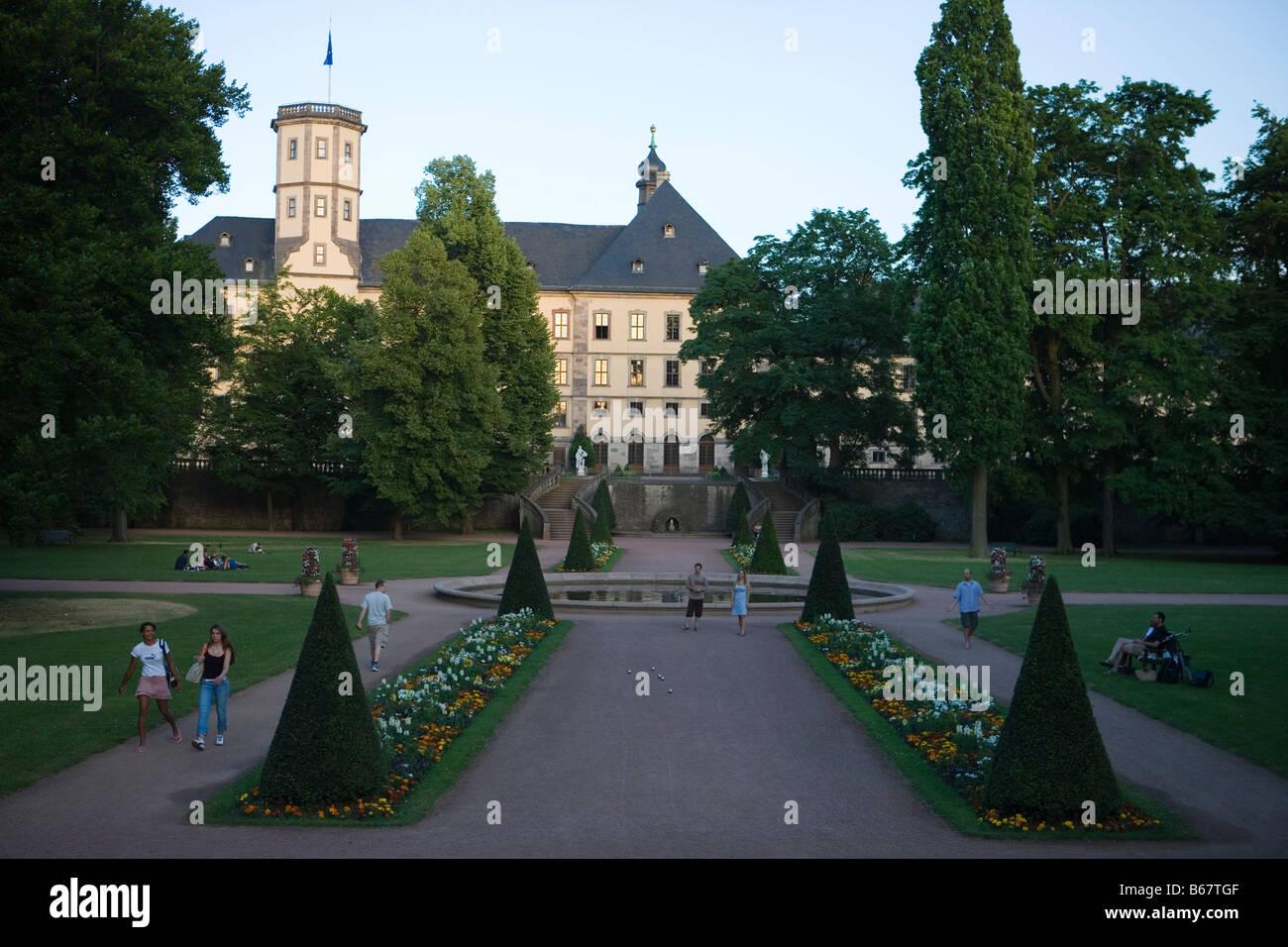 Fulda Schlosspark Park And Stadtschloss City Castle Fulda