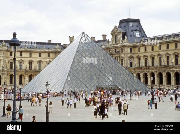 Pyramid Entrance Louvre In Paris Designed