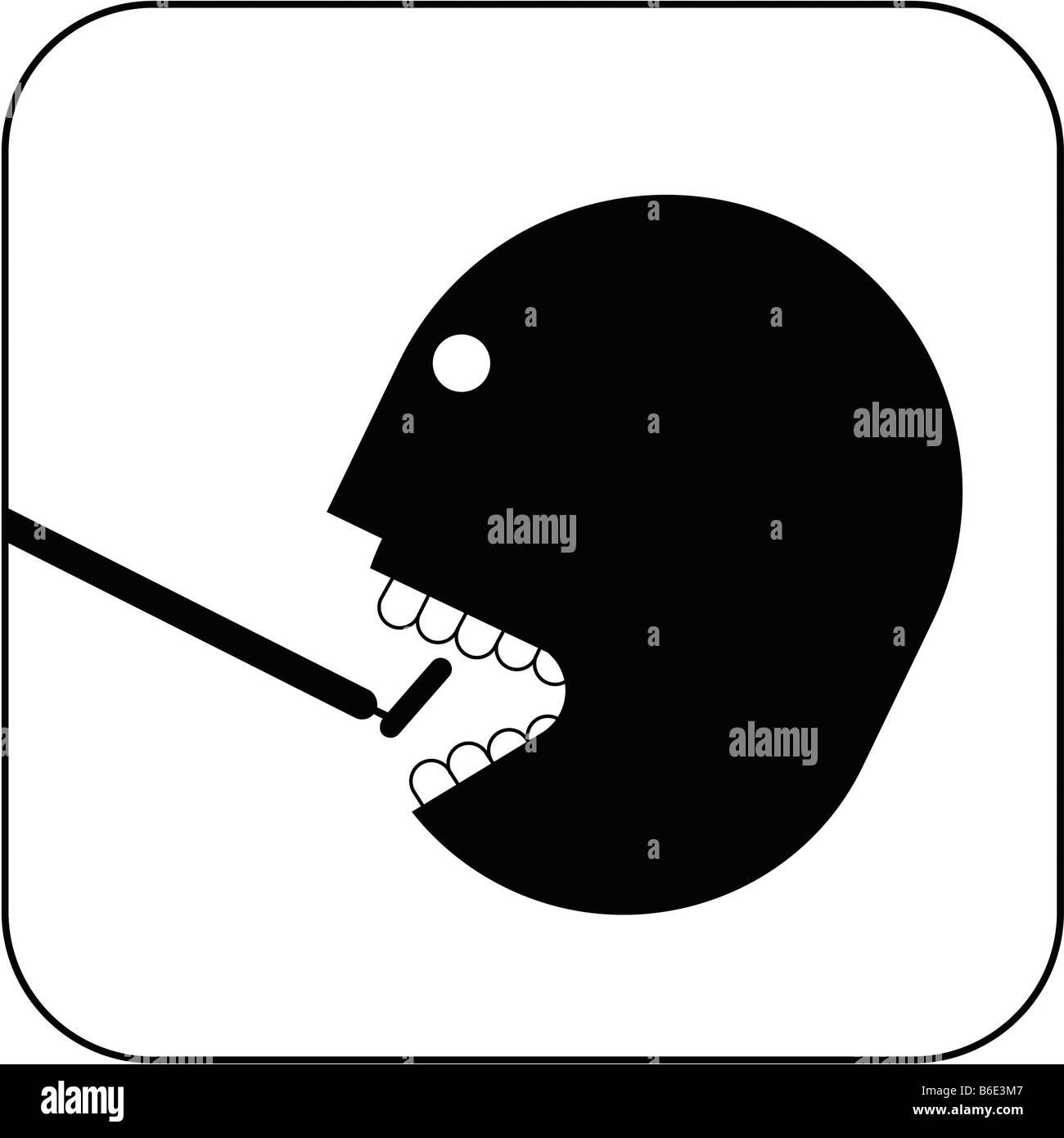 dentistry symbol against white