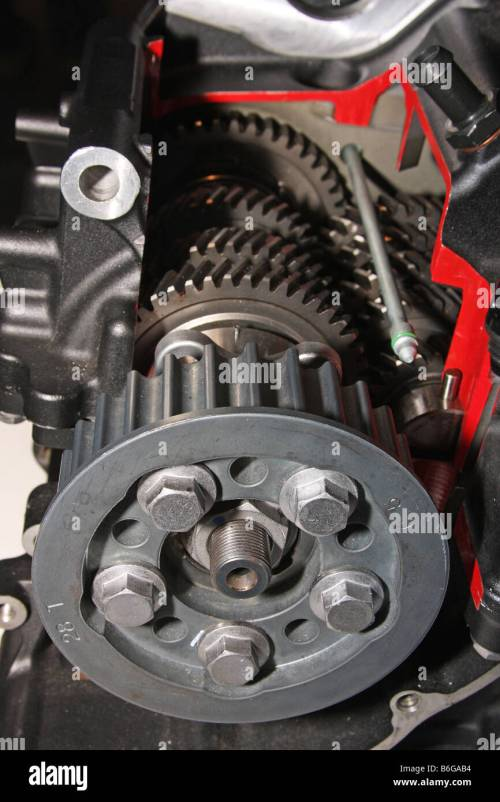 small resolution of cut away view of gearbox and final drive cog in modern motorcycle engine