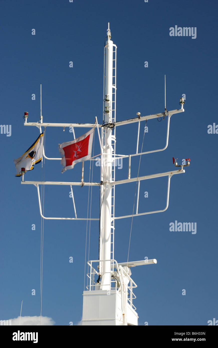 Communications Mast Boat Stock Photos Amp Communications